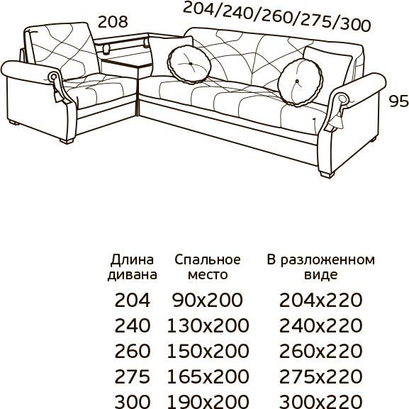 Угловой диван-кровать Зимняя Венеция