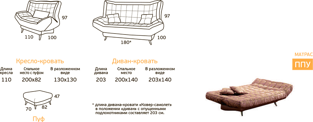 """Диван """"Ковёр-самолёт"""""""