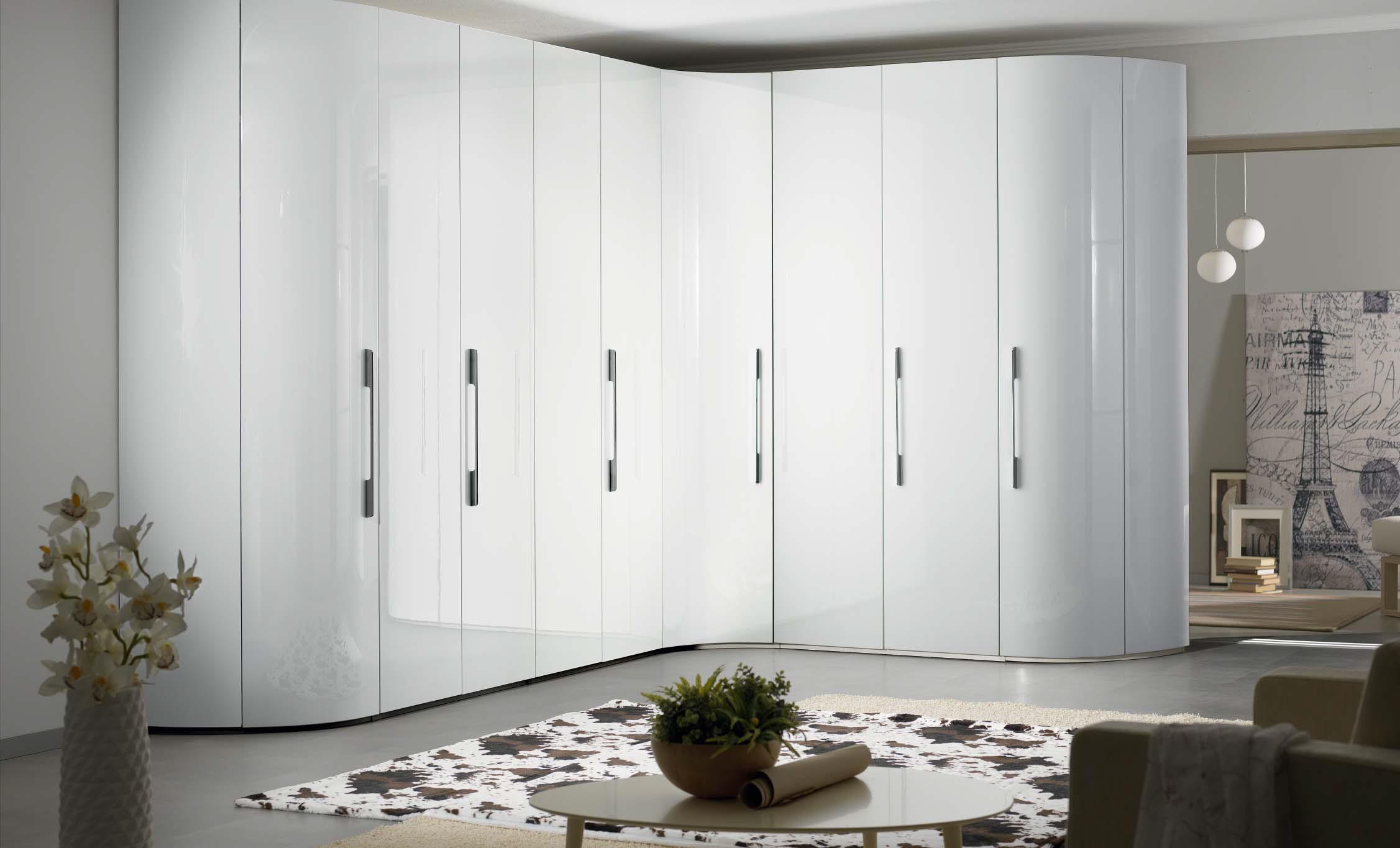 Угловой шкаф с радиусным завершением infinity i001 мебельная.